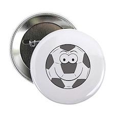 """Soccer Ball Smiley Face 2.25"""" Button"""