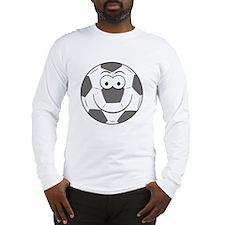Soccer Ball Smiley Face Long Sleeve T-Shirt
