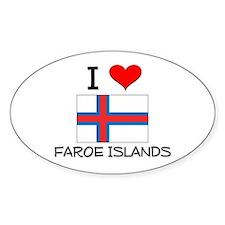 I Love Faroe Islands Oval Decal