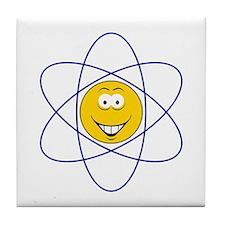 Sciene/Atom Smiley Face Tile Coaster