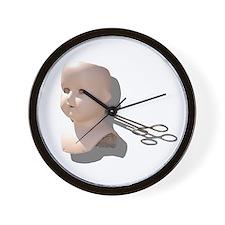 Creepy Doll Head Wall Clock