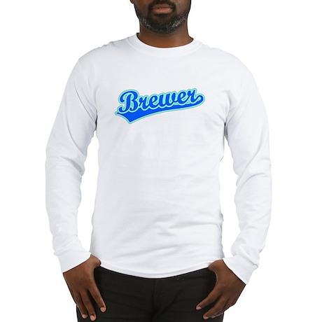Retro Brewer (Blue) Long Sleeve T-Shirt