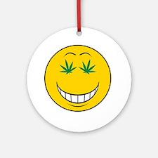Pothead Smiley Face Ornament (Round)