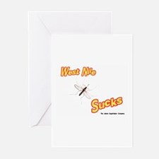 West Nile Sucks Greeting Cards (Pk of 10)