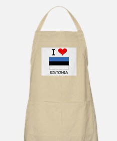 I Love Estonia BBQ Apron