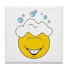 Bath Time Bubbles Smiley Face Tile Coaster