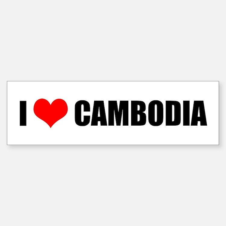 I Heart Cambodia - Bumper Bumper Bumper Sticker