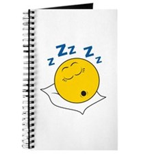 Sleeping/Snoring Smiley Face Journal