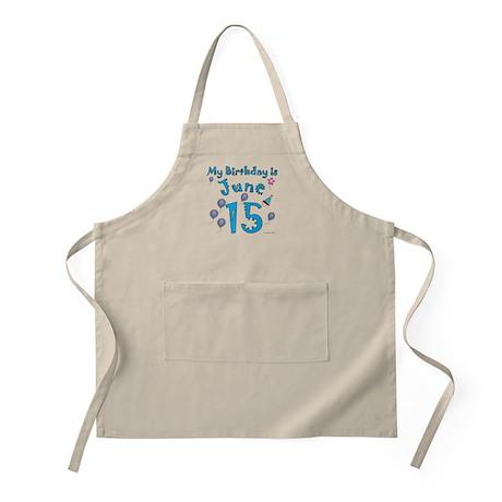 June 15th Birthday BBQ Apron