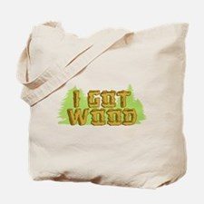 FB I Got Wood Tote Bag