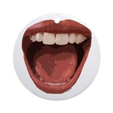 Big Mouth Ornament (Round)
