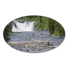 Fly Fishing Yellowstone Oval Decal