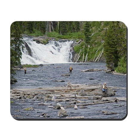 Fly fishing yellowstone mousepad by buffaloworks for Yellowstone park fishing report