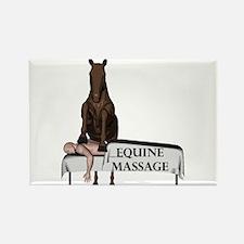 Equine Massage Rectangle Magnet