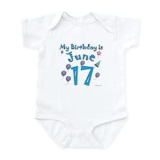 June 17th Birthday Infant Bodysuit