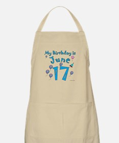June 17th Birthday BBQ Apron