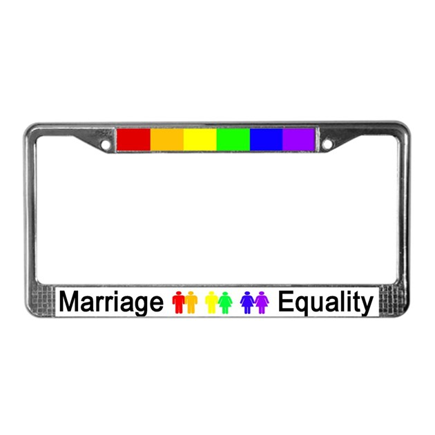 Marriage Equality License Plate Frame By Affa1