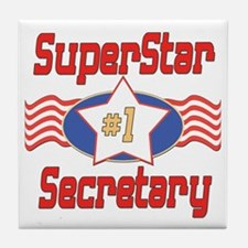 Superstar Secretary Tile Coaster