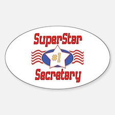 Superstar Secretary Oval Decal