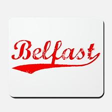 Vintage Belfast (Red) Mousepad
