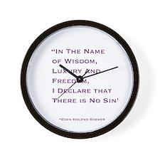 """ No Sin"" Quote Wall Clock."