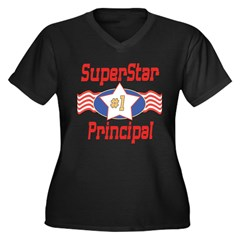 Superstar Principal Women's Plus Size V-Neck Dark