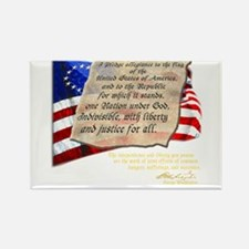 American Pledge of Allegiance with Washington Quot