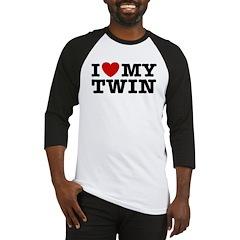 I Love My Twin Baseball Jersey