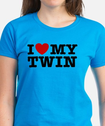 I Love My Twin Women's Dark T-Shirt