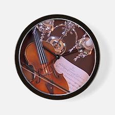 Violin & Candelabra Wall Clock