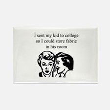 Fabric - Sent Son to College Rectangle Magnet