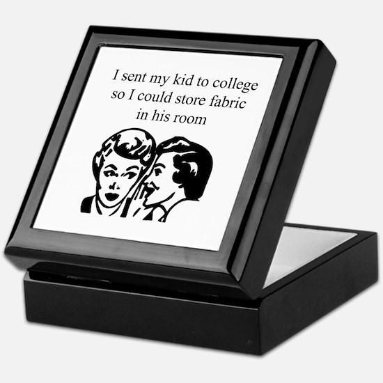 Fabric - Sent Son to College Keepsake Box