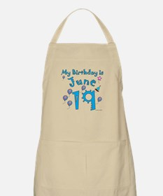 June 19th Birthday BBQ Apron