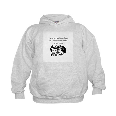 Fabric - Sent Daughter to Col Kids Hoodie