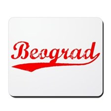 Vintage Beograd (Red) Mousepad