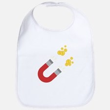 Like a magnet for money Ck64m Baby Bib