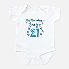 June 21st Birthday Infant Bodysuit