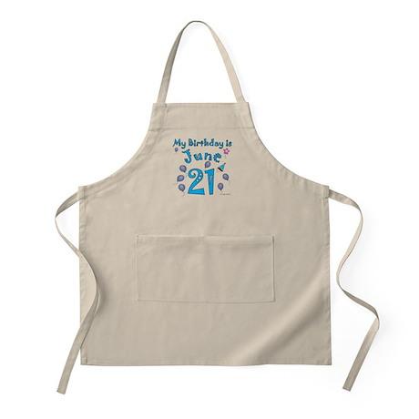 June 21st Birthday BBQ Apron