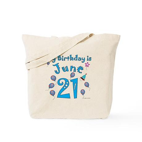 June 21st Birthday Tote Bag
