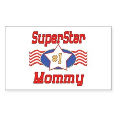 Superstar Mommy Rectangle Sticker 50 pk)