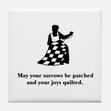 Sorrows Patched and Joys Quil Tile Coaster