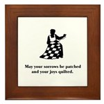Sorrows Patched and Joys Quil Framed Tile