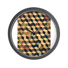 Cube Quilt - Fabric Crafts Wall Clock