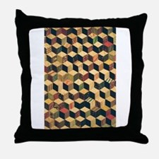 Cube Quilt - Fabric Crafts Throw Pillow