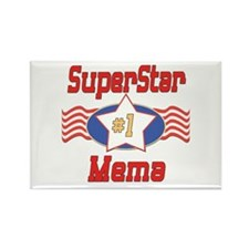 Superstar Mema Rectangle Magnet