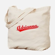 Retro Adrianna (Red) Tote Bag