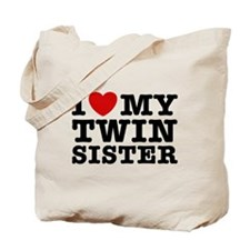 I Love My Twin Sister Tote Bag