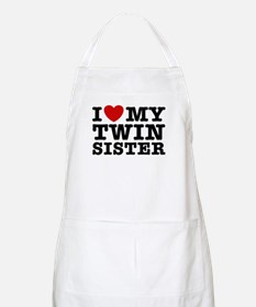 I Love My Twin Sister BBQ Apron