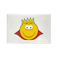 King Smiley Face Rectangle Magnet