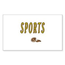 Sports Nut Rectangle Decal